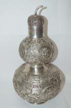 Sterling Silver Double Gourd Vase