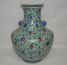 Chinese Blue/ White Doucai Porcelain Vase