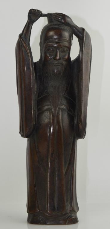 Bronze Confucius Kongzi Statue