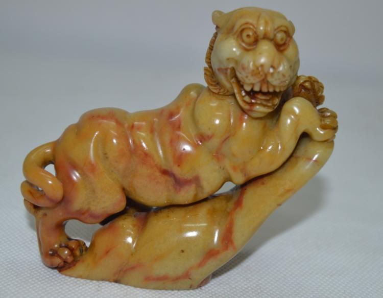 Soap Stone Tiger Statue