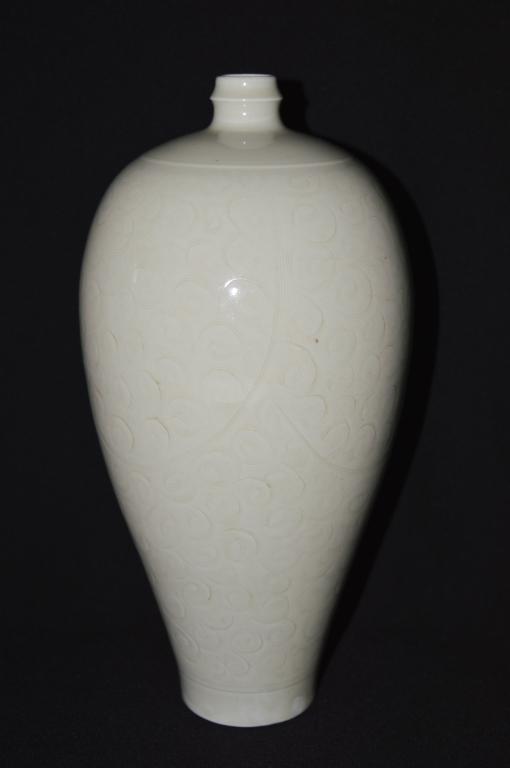 White Glazed Meiping Vase