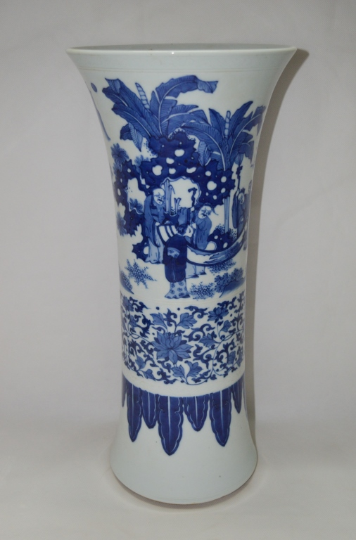 Chinese Blue and White Porcelain Arrow Vase
