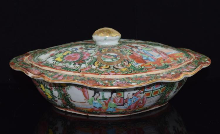 Chinese Export Rose medallion serving dishes