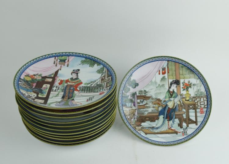 Twelve women craft porcelain plate
