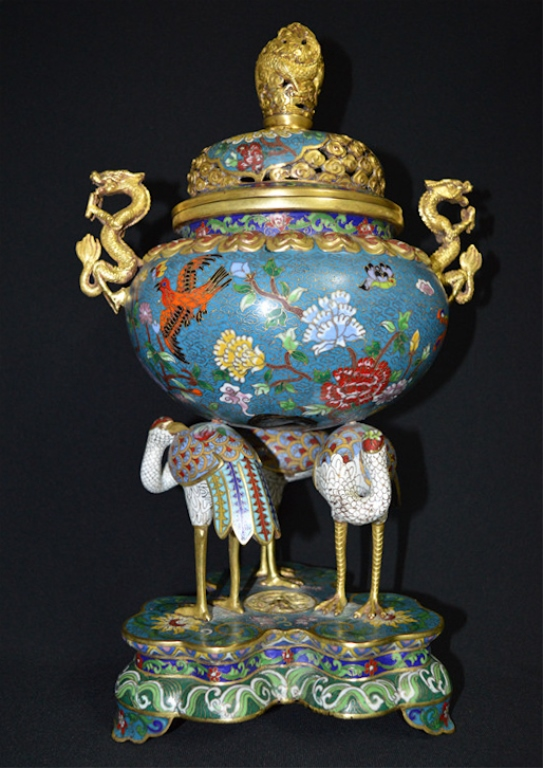 Chinese Cloisonne enamel Incense Burner