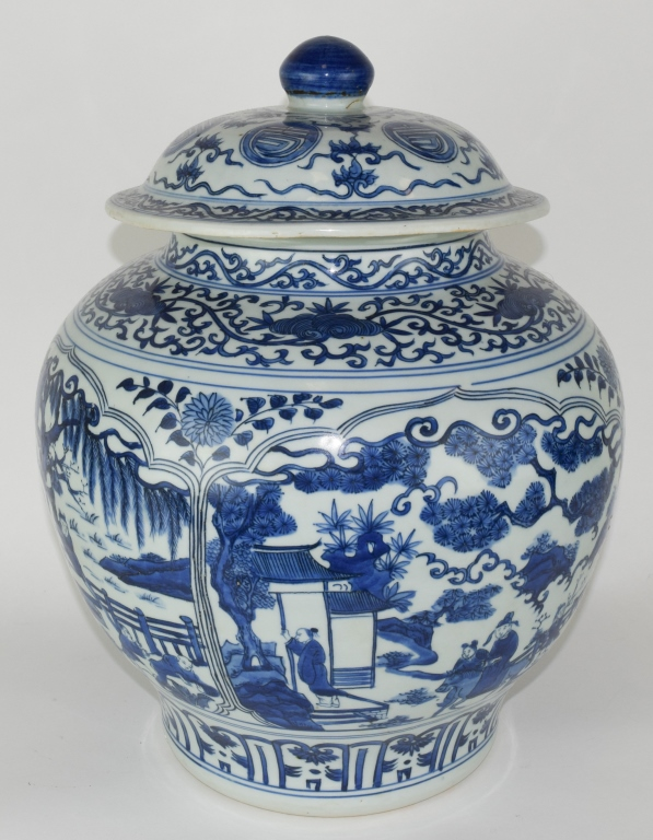 Chinese Blue and White General jar