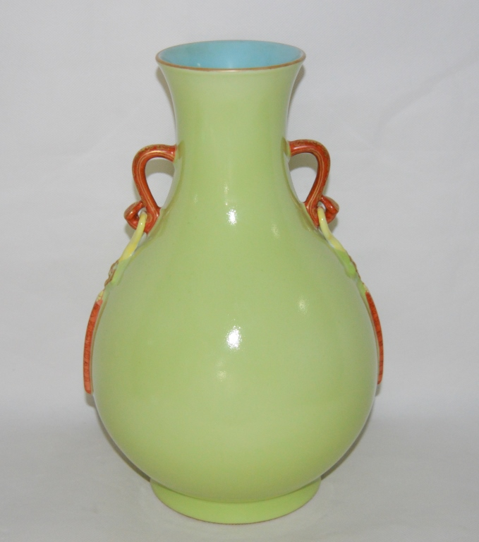 Citrus Yellow Glazed Porcelain Vase