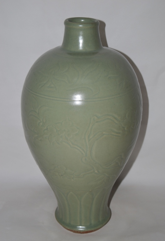 Chinese Longquan Meiping Vase