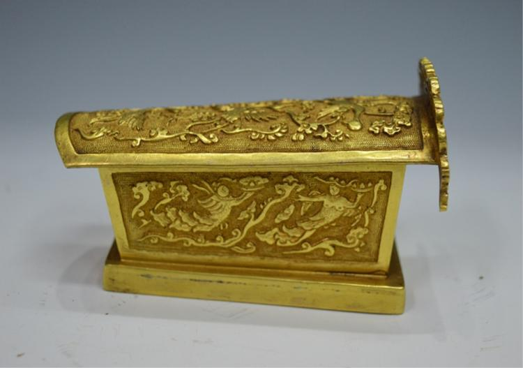 Gilt Bronze Coffin