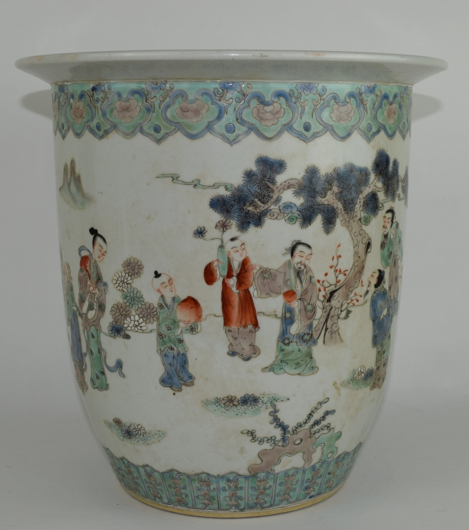 Chinese Famille Rose Porcelain Fish Jar