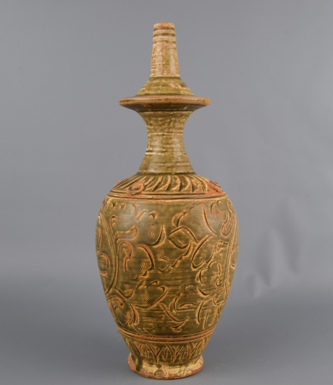 Chinese Brown Glazed Pottery Vases