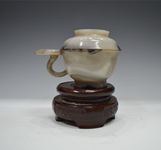 Agate Cup With Covered Lid