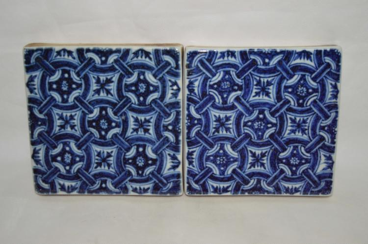 A Pair of Chinese Blue and White Porcelain Plague