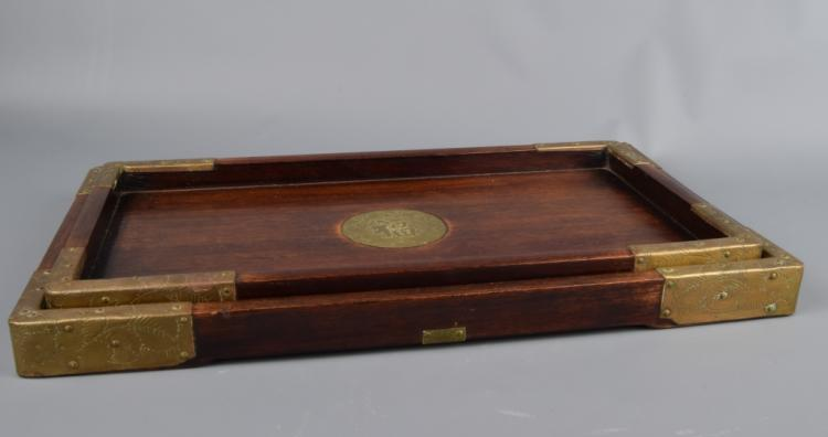 Two Pieces of Wood Tray