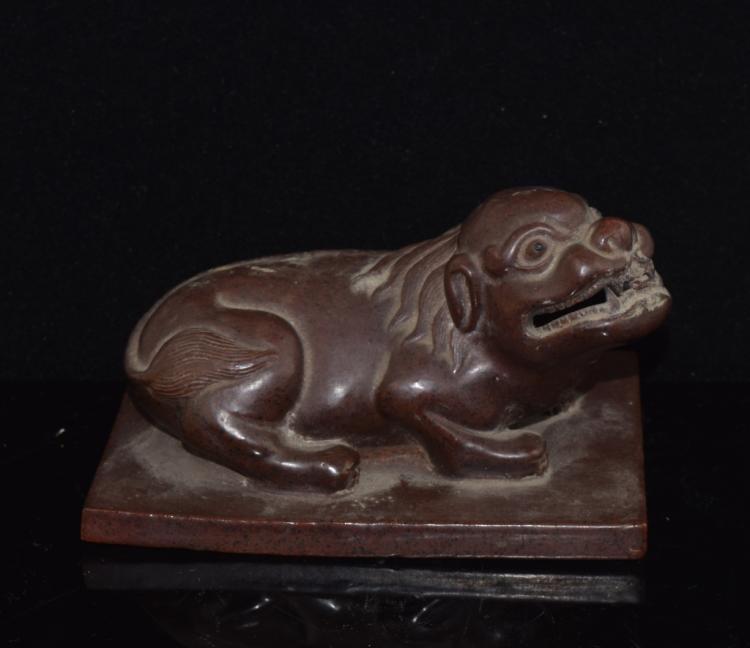 Chinese Porcelain Mystical Beast Paperweight