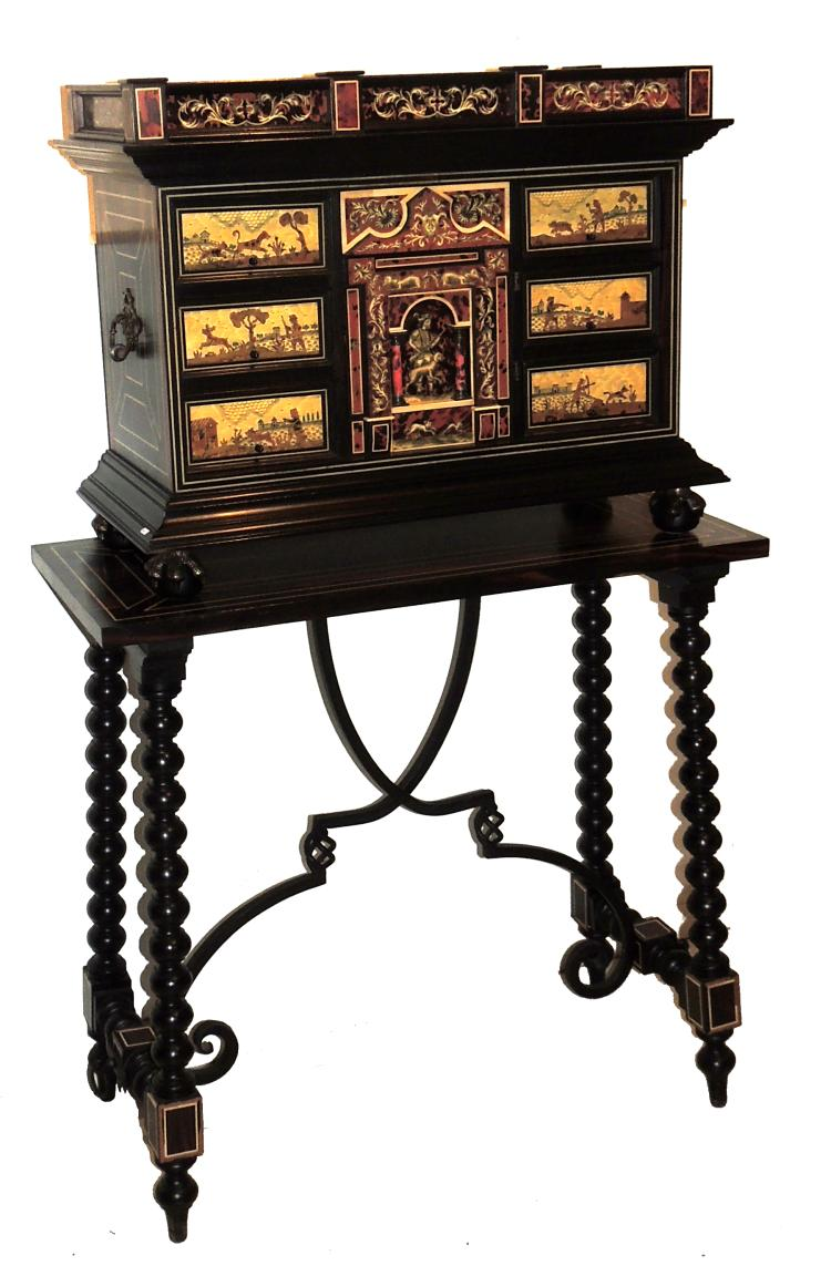 Wooden writing desk paper cabinet with table
