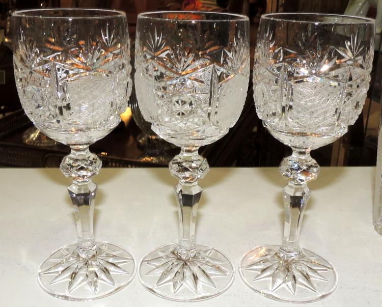 COLLECTION OF 6 CUASES in Bohemian crystal.