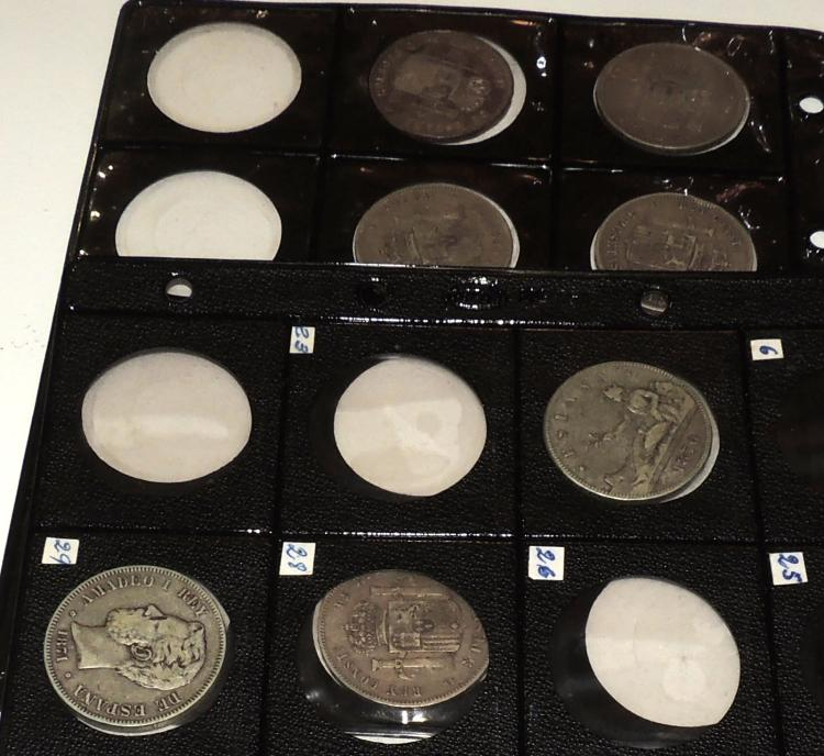 COLLECTION OF 7 COINS between the years 1870-1899 Amadeo and Rey and Alfonso XII.