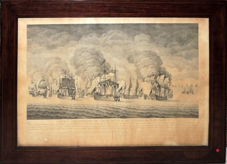 COLLECTION OF VIEWS OF THE COMBAT OF TOLL (6) 6 engravings,