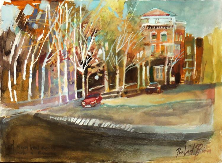 RAFAEL GRIERA watercolor on paper,