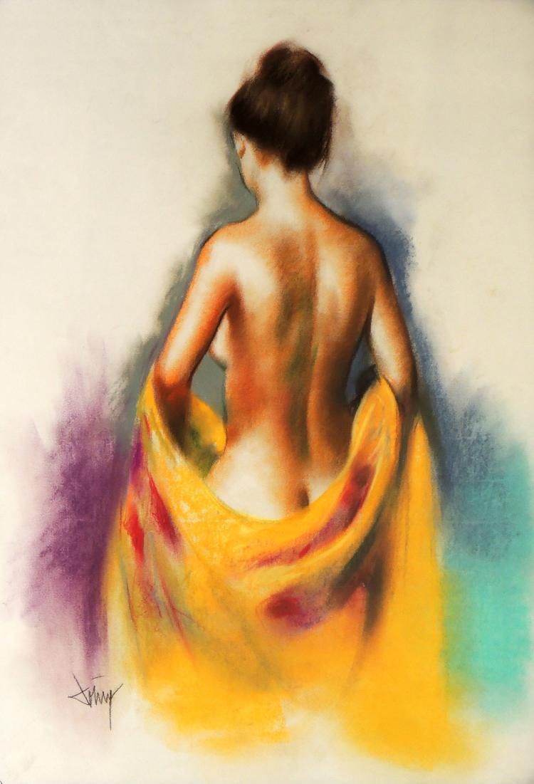 DOMINGO ALVAREZ pastel on paper,