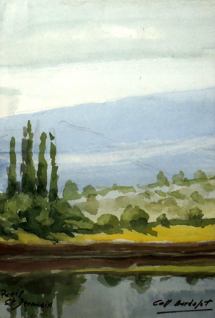 JOSEP COLL BARDOLET watercolor,
