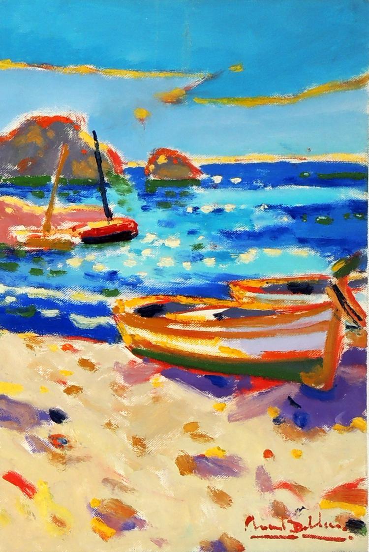 MANUEL DOBLAS oil on canvas,