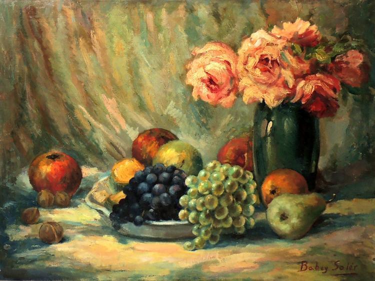 BABEY SOLÉR oil on canvas,