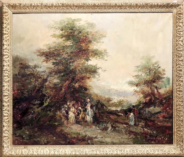 JOAN CAMO SENTIS oil on canvas,