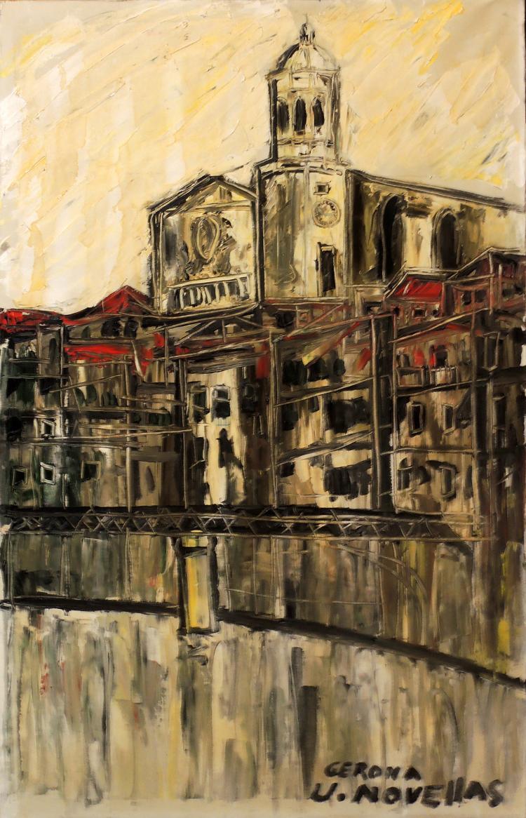 JOSEP NOVELLAS oil on canvas,
