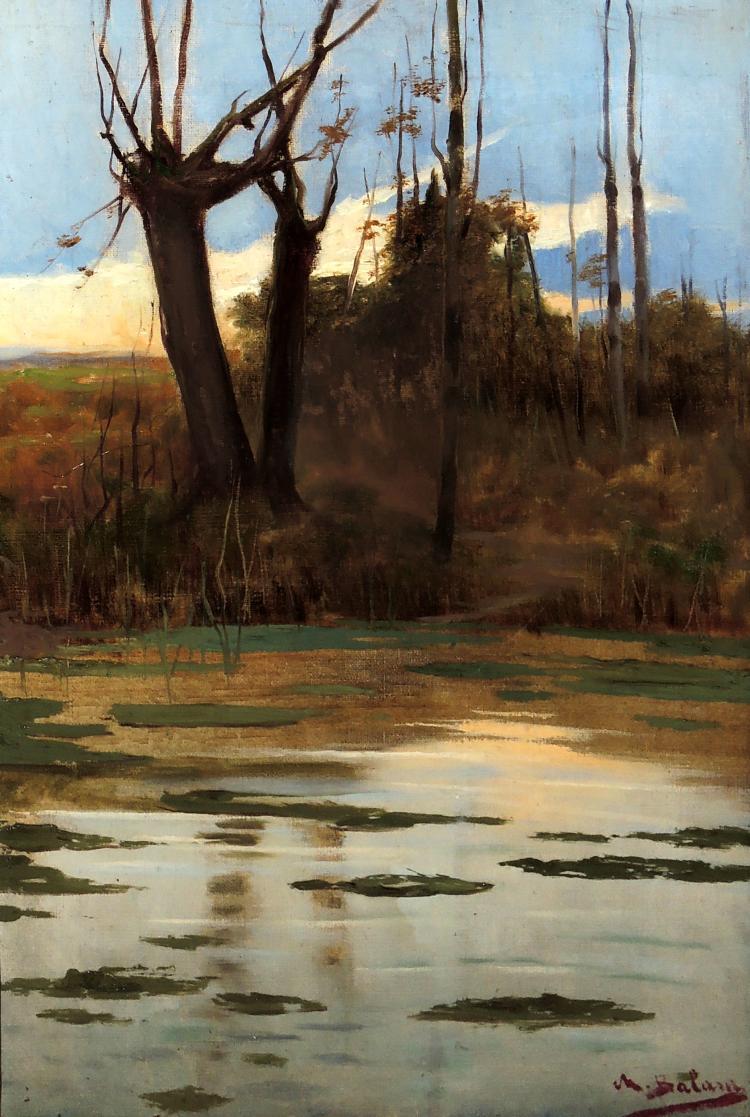 MATEO BALASCH oil on canvas,