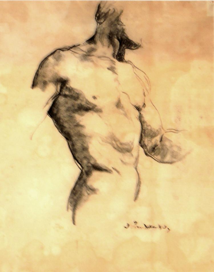 JOSEP PUIGDENGOLAS drawing on paper,