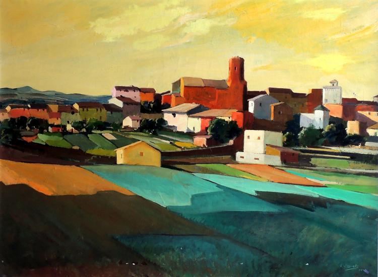 L. VAYREDA TRULLOL oil on canvas,