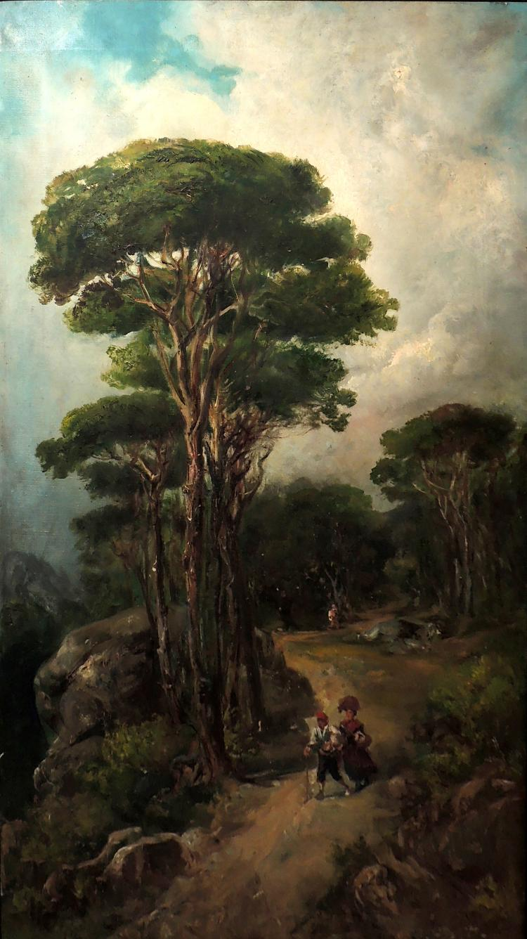 FOLLOWER OF MARTÍ ALSINA oil on canvas,