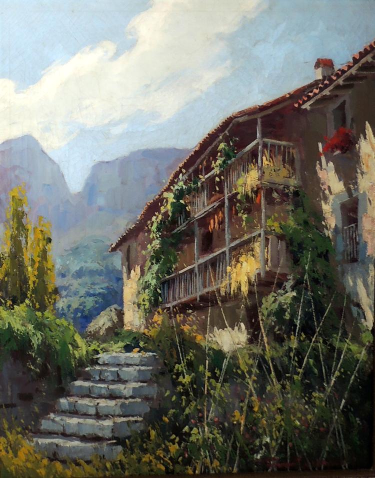 FRANCESC CARBONELL MASSABÉ oil on canvas,