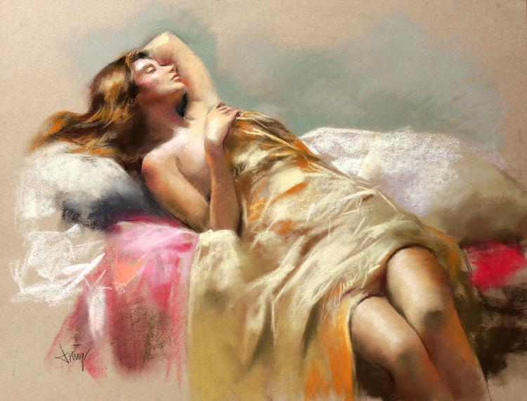 SUNDAY ALVAREZ pastel on paper,