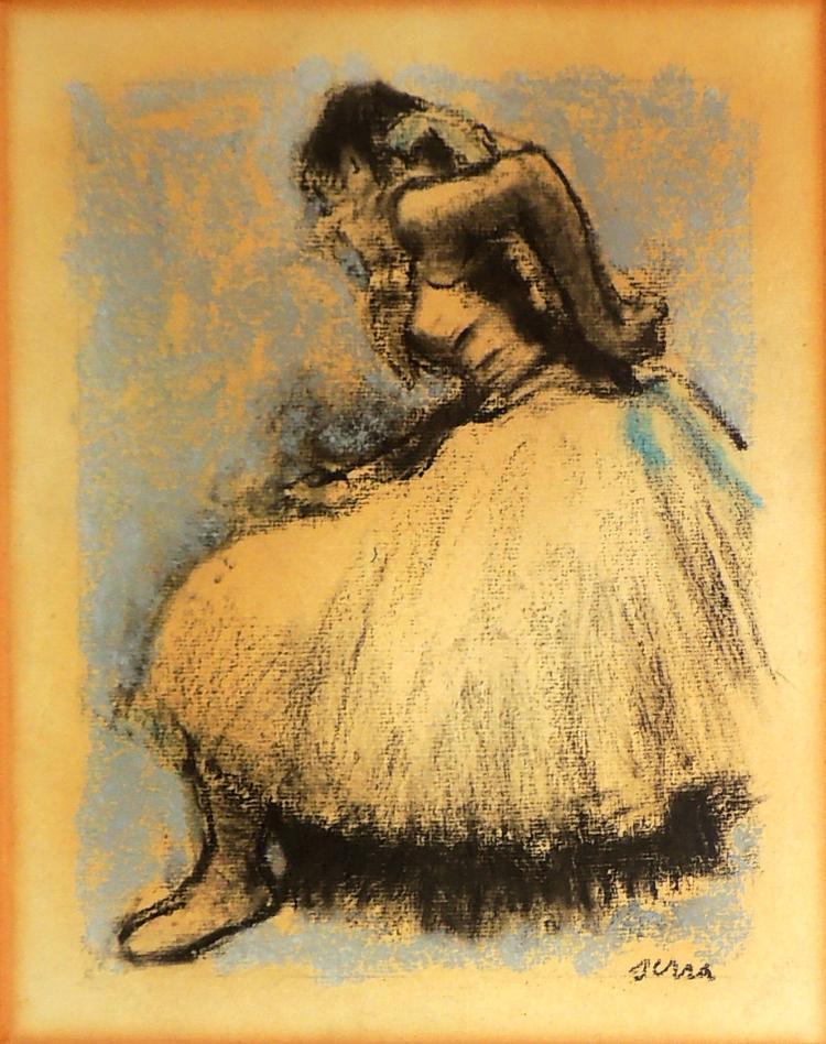 F. SERRA pastel on paper,
