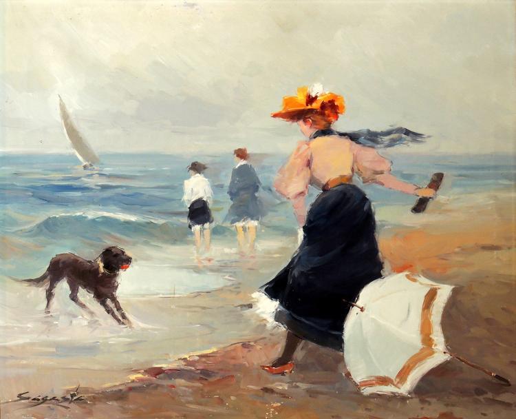 LUIS ARANA SAGASTA oil on canvas,