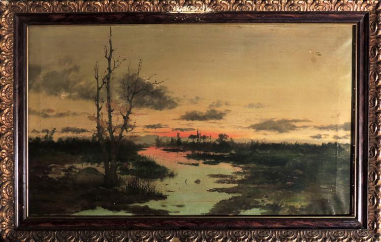 SPANISH SCHOOL S.XIX (ILLEGIBLE) oil on canvas,