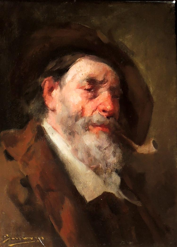 ILLEGIBLE oil on canvas,