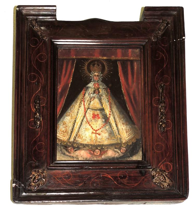 ANONYMOUS S.XVIII-XIX oil on wood,