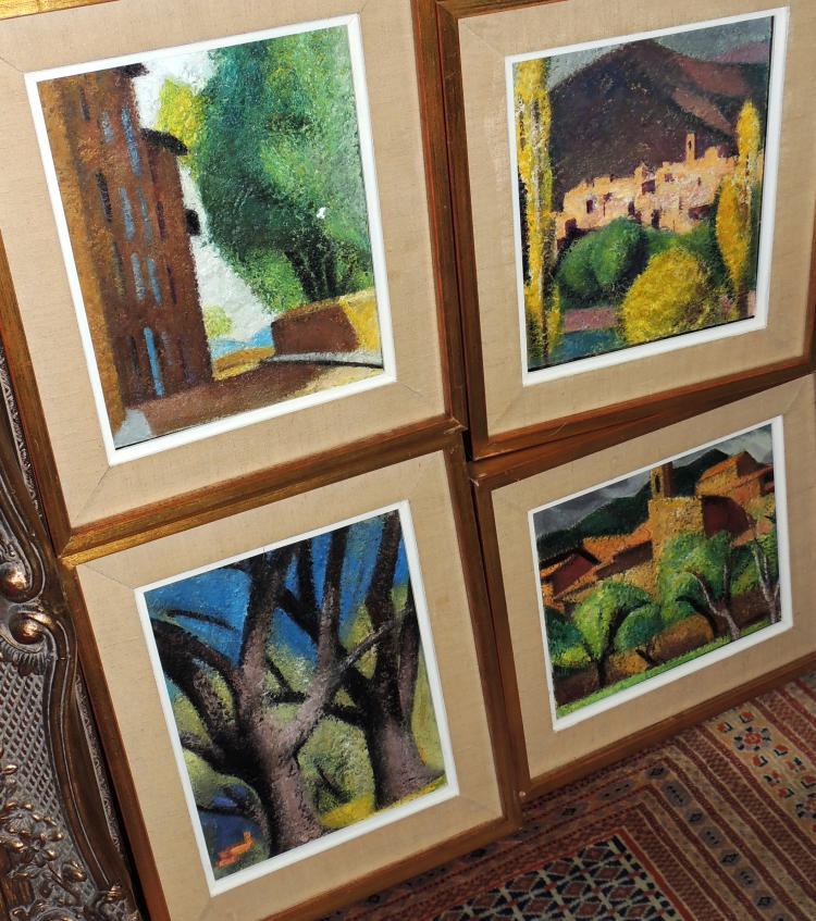 MIQUEL VILLA BASSOLS (4) four oil paintings on canvas,