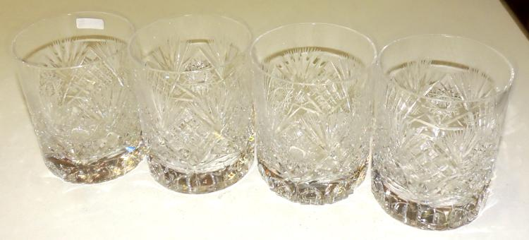 12 GLASS COLLECTION by Wisky in carved Bohemian crystal.