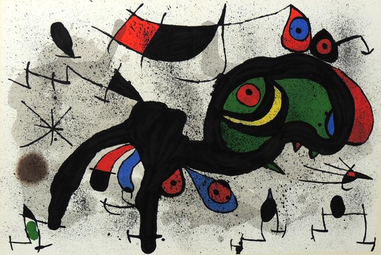 Joan miro lithograph derriere le miroir 1971 abstraction for Miro derriere le miroir