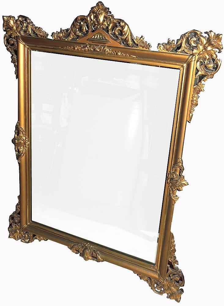 Gilded metal mirror for Metal miroir