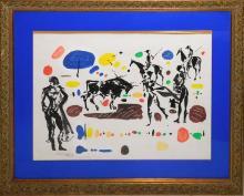 """Miquel TORNER DE SEMIR (1938) """"Escena taurina"""" acuarela sobre papel 47x65 cm."""