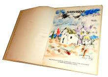 SANVISENS' BOOK WITH AN ORIGINAL WATERCOLOUR