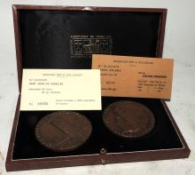 TWO COMMEMORATIVE MEDALS FROM ANDORRA