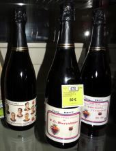 THREE COMMEMORATIVE WINE BOTTLES OF 'HOMENATGE F. C. BARCELONA'