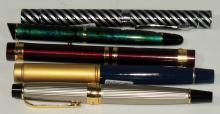 SET OF FIVE FOUNTAIN PENS